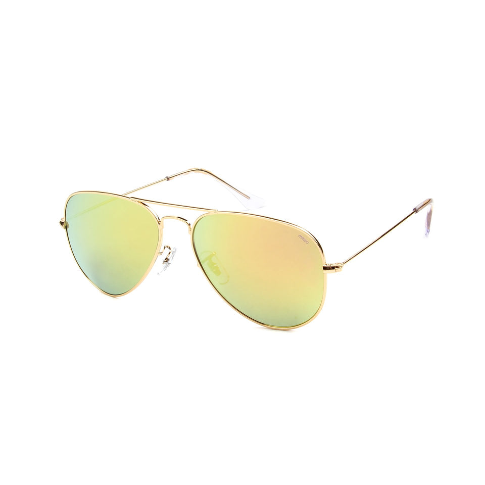 Rafale Gold - Angle View - Gold Mirror lens - Mawu sunglasses