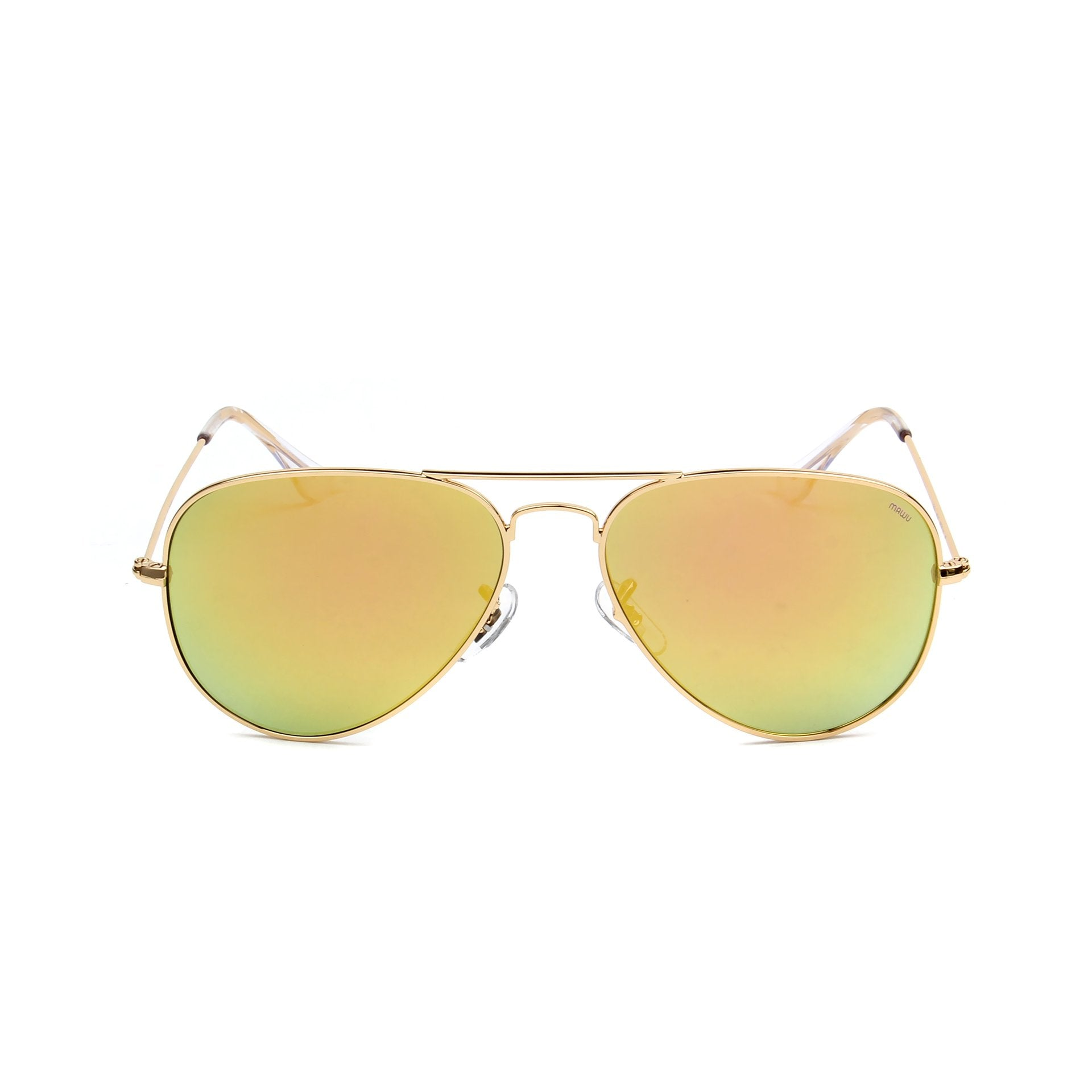 Rafale Gold - Front View - Gold Mirror lens - Mawu sunglasses