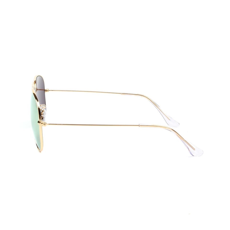 Rafale Gold - Side View - Gold Mirror lens - Mawu sunglasses