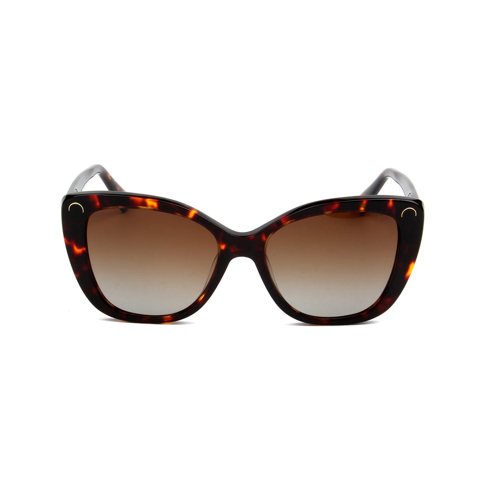 Serene Gold Tortoise - Front View - Brown Gradient lens - Mawu sunglasses