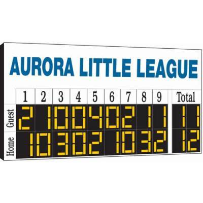 8' x 4' Manual Baseball Scoreboard