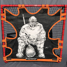 "Load image into Gallery viewer, NEW! HI-IMPACT ""BIG GOALIE"" BOX LACROSSE SHOT TRAINER BY  FOR 4'X4' BOX GOALS ONLY"