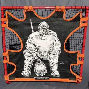 "NEW! HI-IMPACT ""BIG GOALIE"" BOX LACROSSE SHOT TRAINER BY  FOR 4'X4' BOX GOALS ONLY"