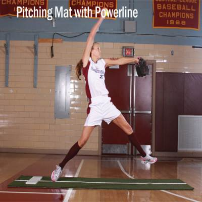Pitching Mat with Powerline