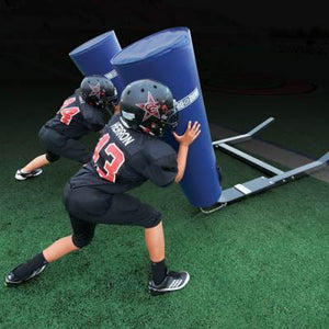 Youth Blocking Sleds
