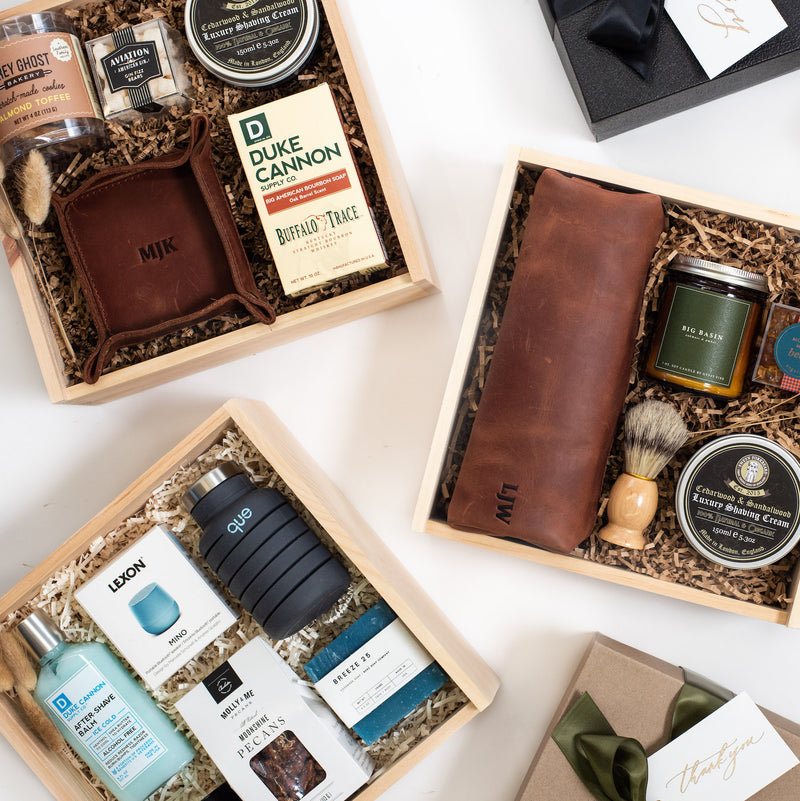 Let's face it, Valentine's is geared mainly towards women, but you can also celebrate the men in your life with these non-cheesy valentine's day gift boxes for him from Marigold & Grey!
