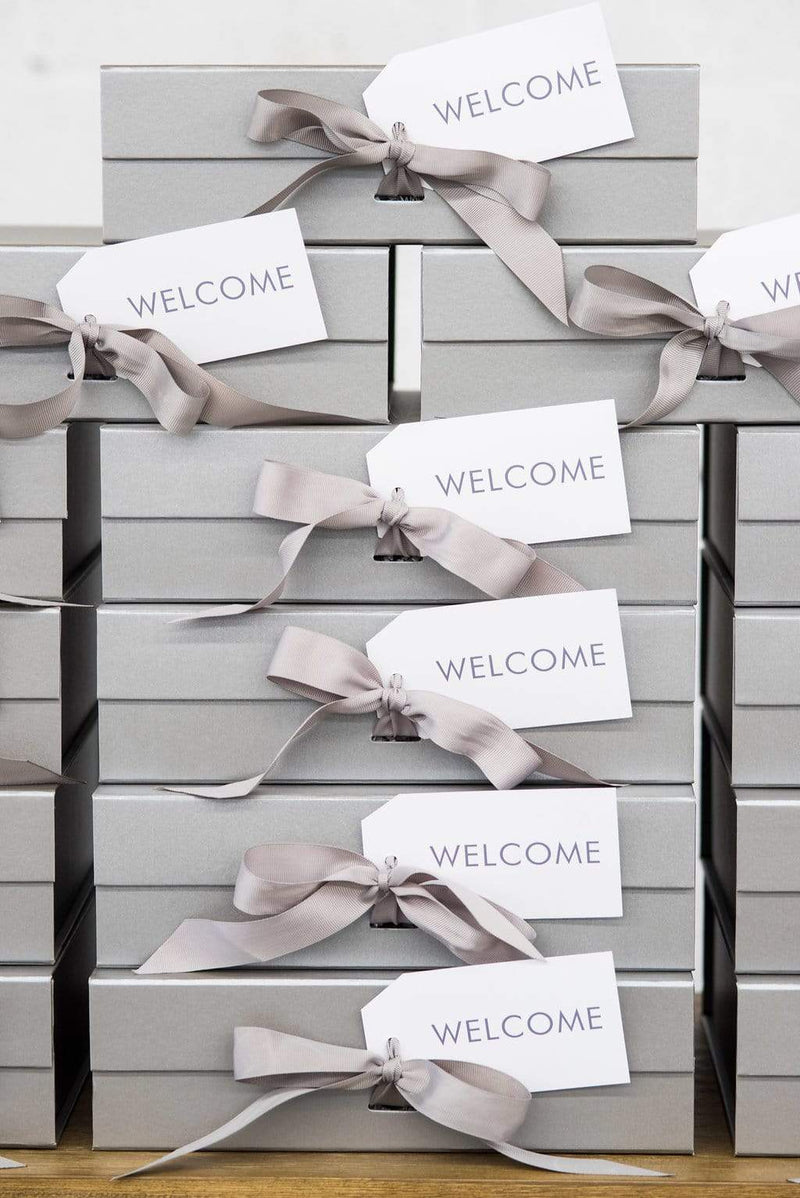 Socially-Conscious Washington DC Welcome Gifts for Modern Grey & White Longview Gallery Wedding