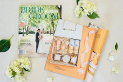 Featured in Washingtonian Bride & Groom Magazine for Wedding Welcome Gift in Shades of Orange