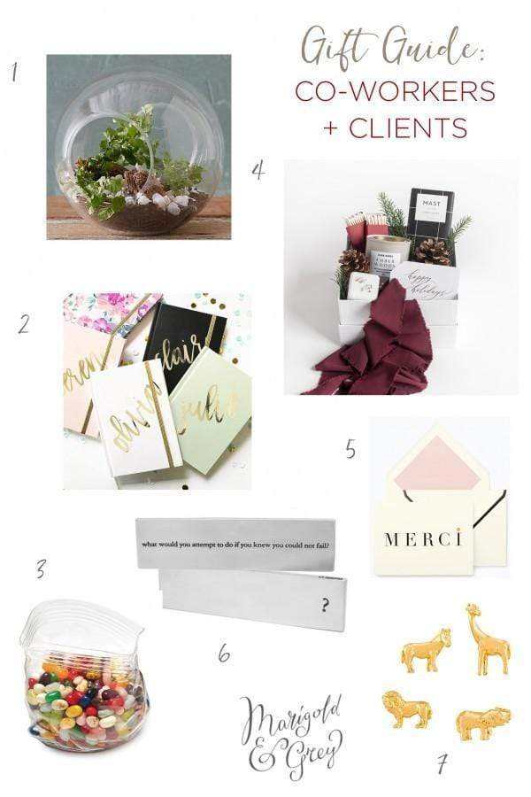 Gift Ideas for Co-Workers and Clients // Holiday Gift Guide by Marigold & Grey