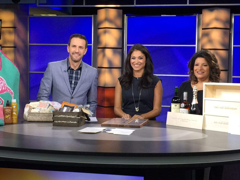 Featured on WJLA Let's Talk Live // Bridesmaid and Groomsmen Gift Trends