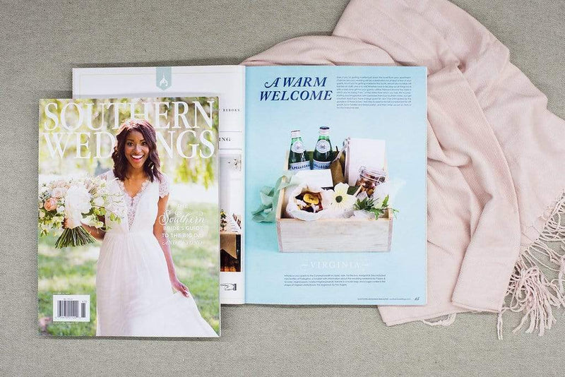 Featured in Southern Weddings Magazine // Virginia Wedding Welcome Gifts