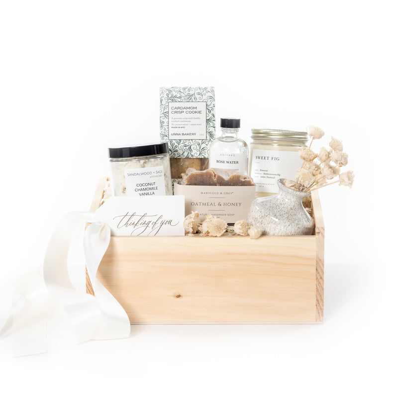 Quarantine Gift Boxes to Encourage Self-Care by Curated Gift Box Business Marigold & Grey