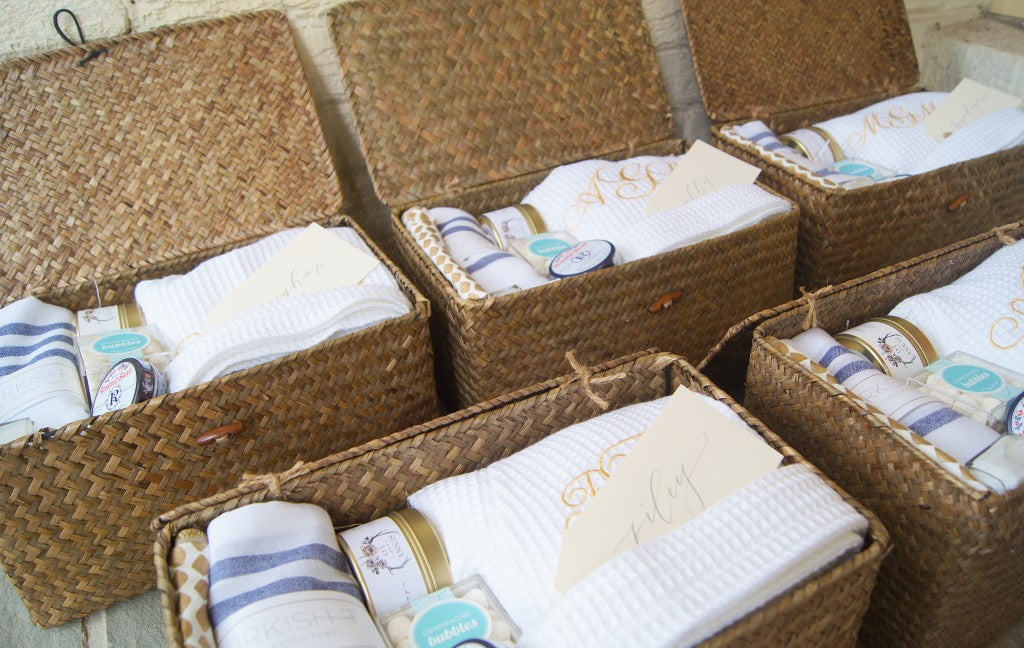 Custom-Bridesmaid-Basket-Navy-Gold-White