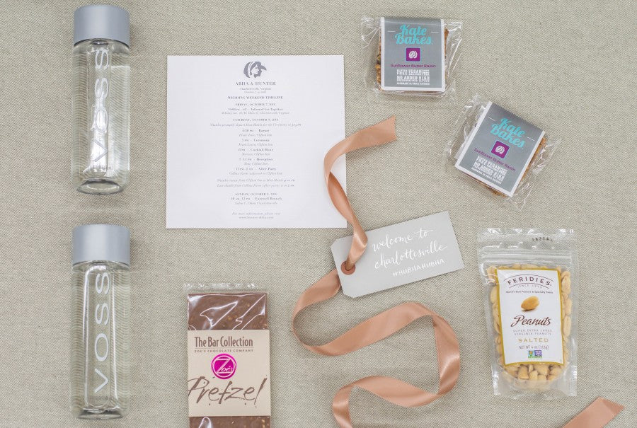 Custom-Welcome-Gifts-Modern-Charlottesville-Wedding-The-Clifton-Inn