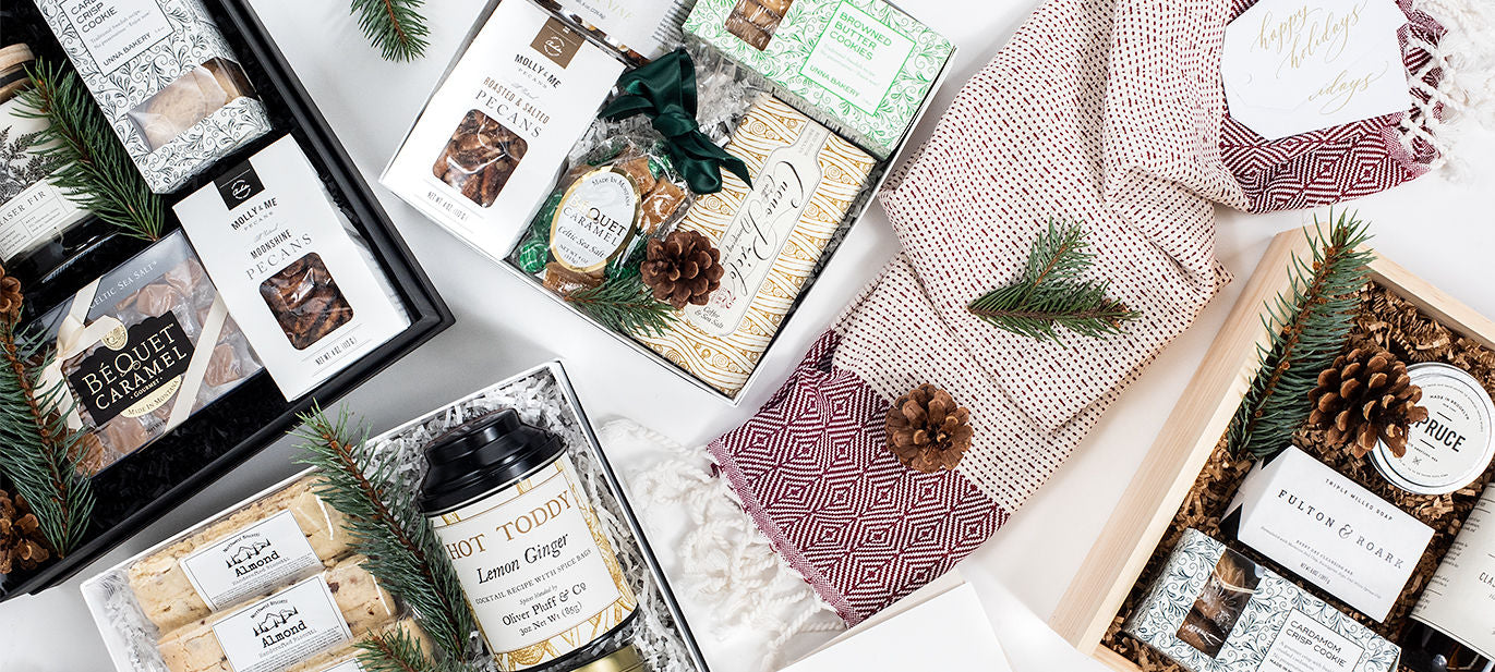 Small Business Saturday special offer from curated gift box business Marigold & Grey