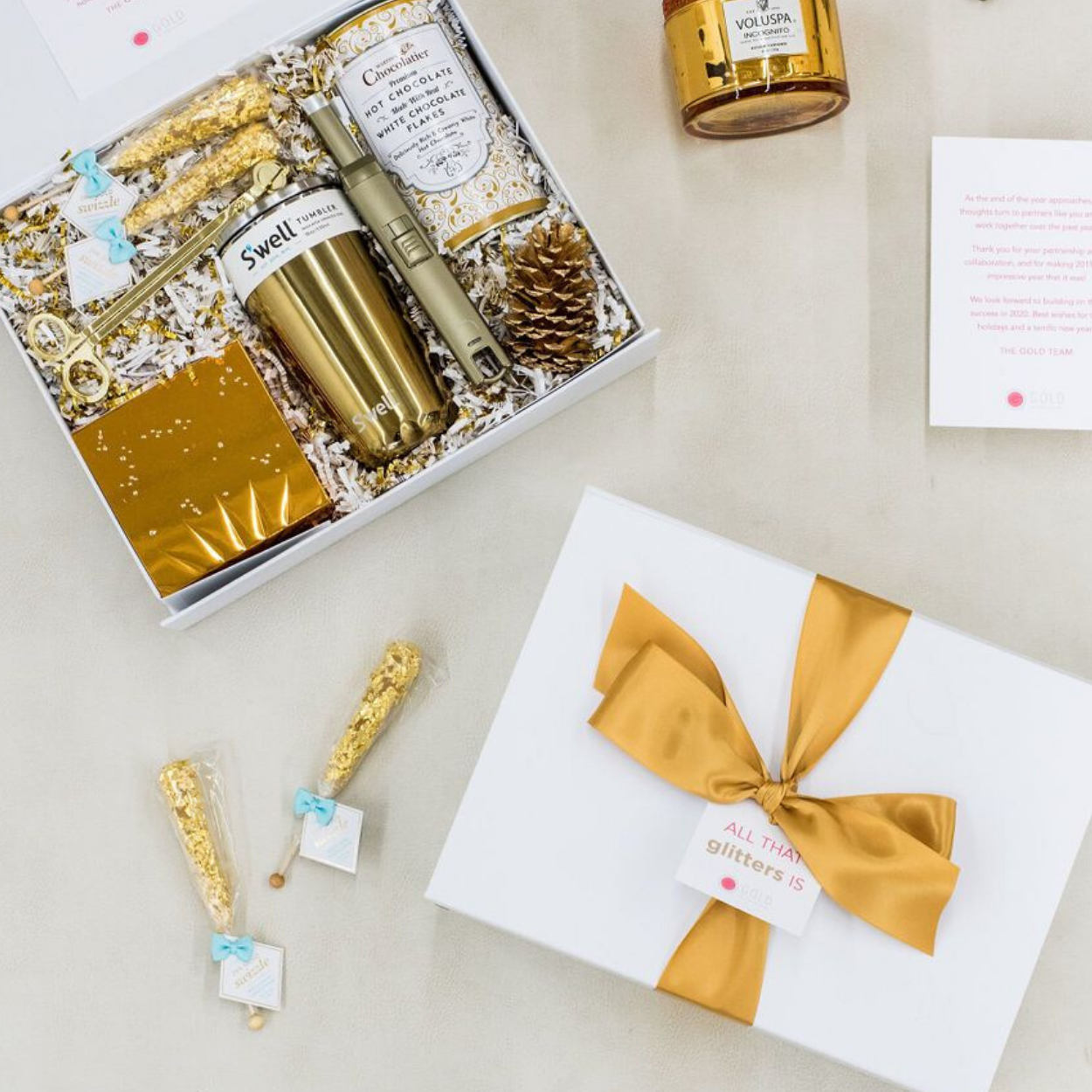 Metallic Client gifts for Gold PR