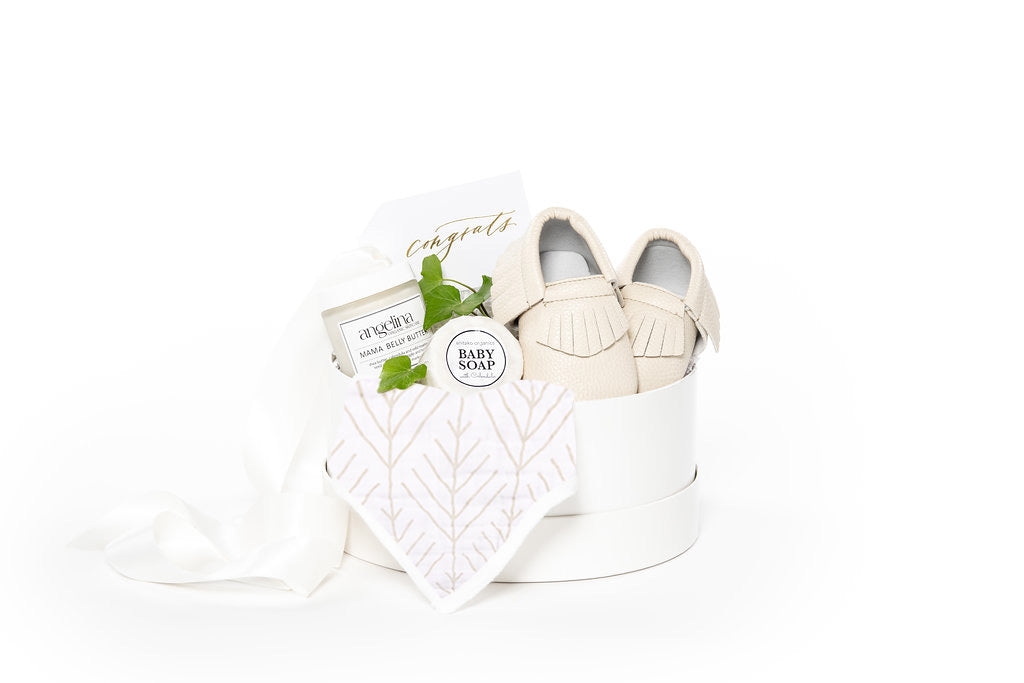 Gender neutral new baby curated gift boxes