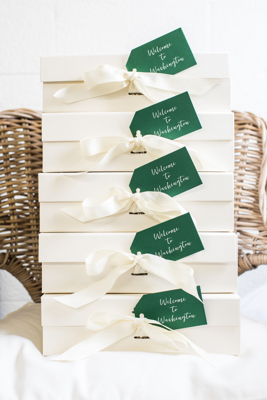 Washington DC wedding welcome gifts