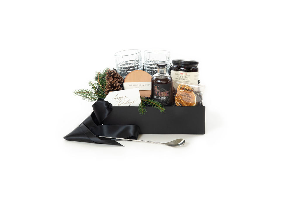 holiday cocktail gift box