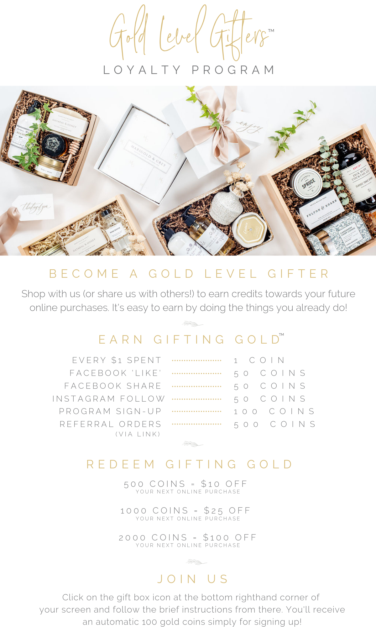 curated gift box business loyalty rewards program