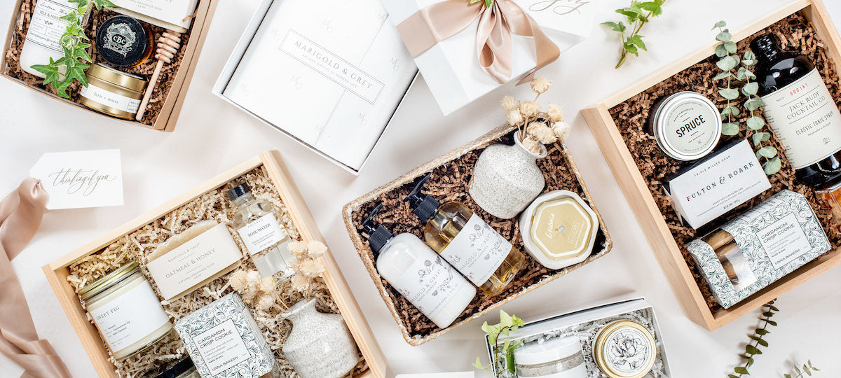 Curated Gift Box Business Marigold & Grey Announces Rebrand, New Website and Online Collection