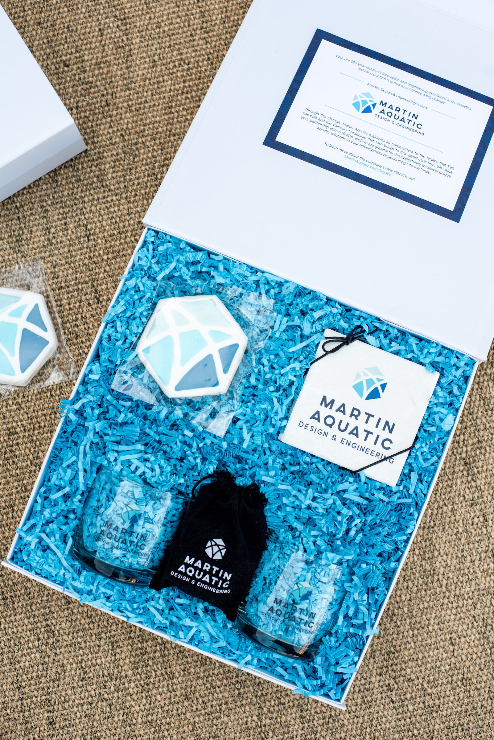 branded corporate client gifts for rebrand