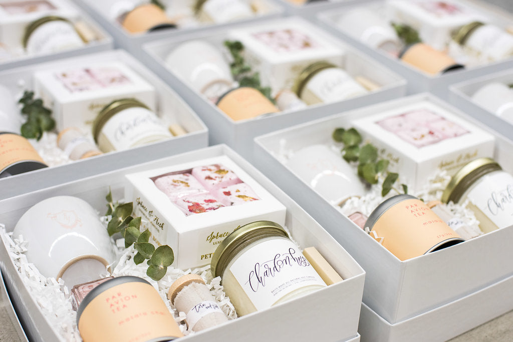 Spa Themed Curated Client Gift Boxes For Branding Web Design Busines