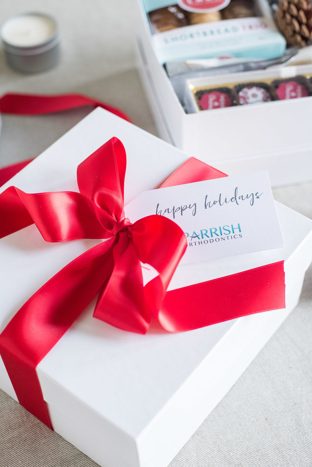 Bright creative holiday client gifts