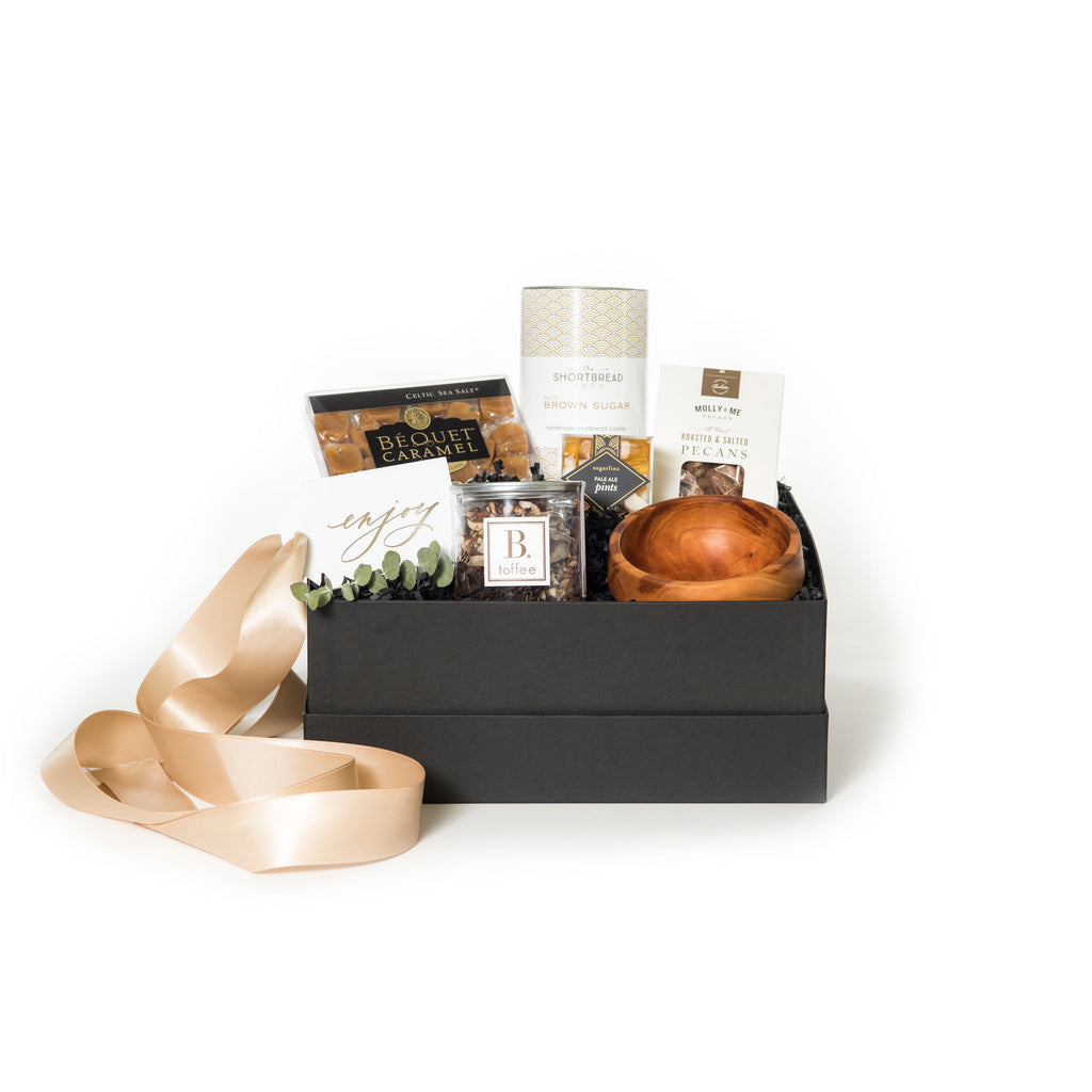 Curated client snack gift box