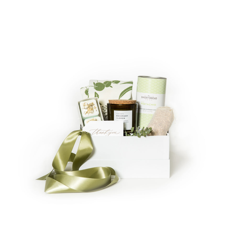 Gender neutral curated gift box for clients