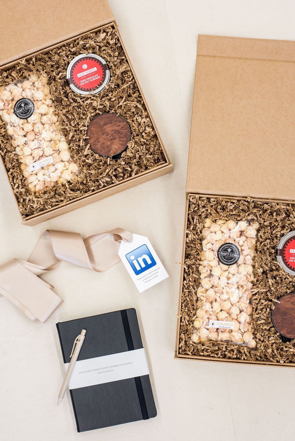 Luxury corporate event welcome gifts for LinkedIn