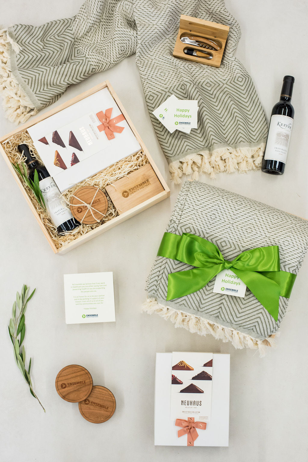 luxury corporate holiday curated gift boxes