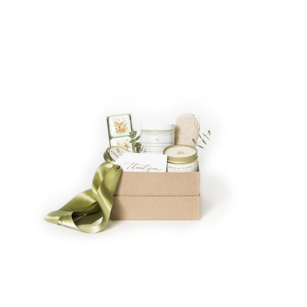 Mint curated gift box by Marigold & Grey