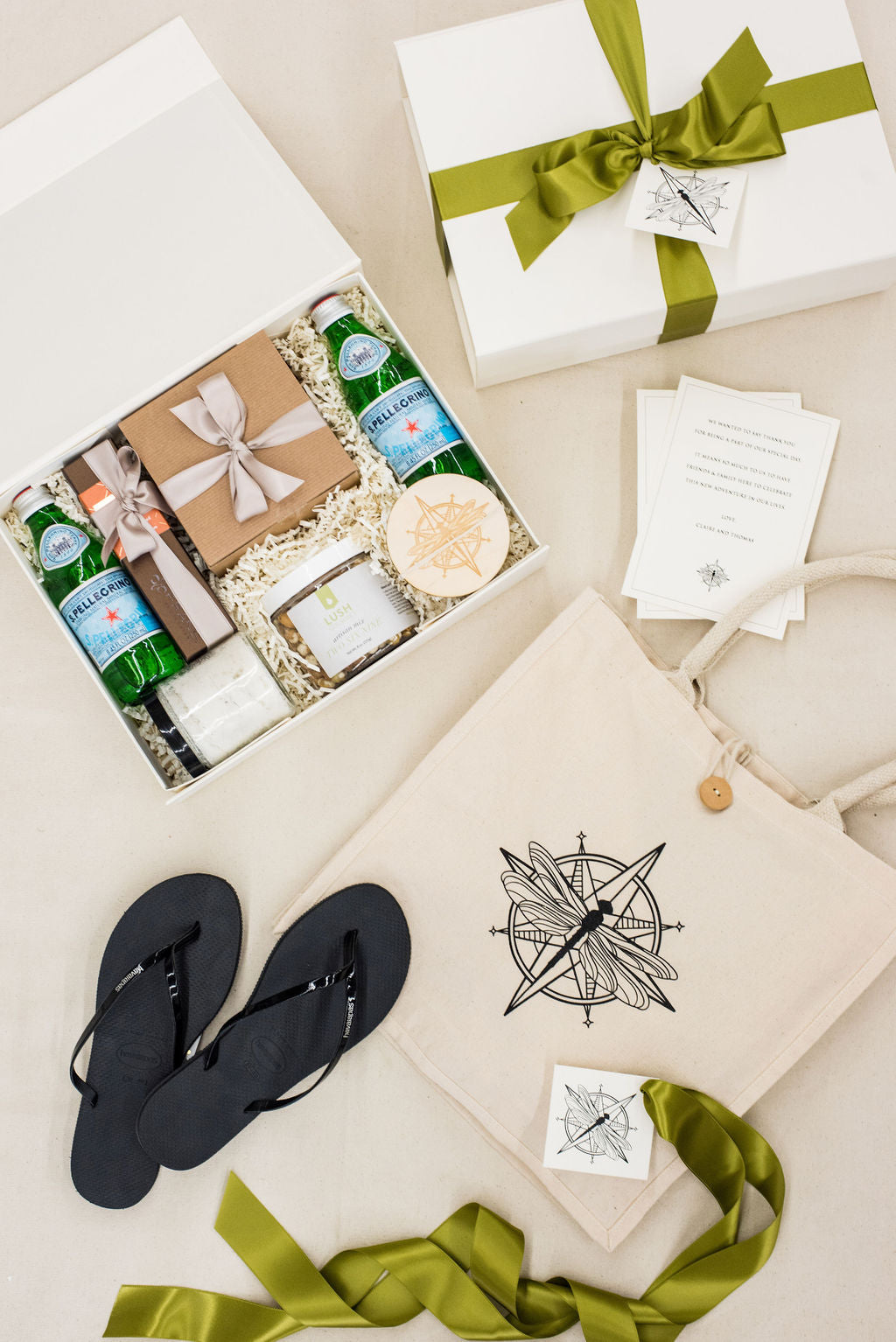 orcas island wedding welcome bags