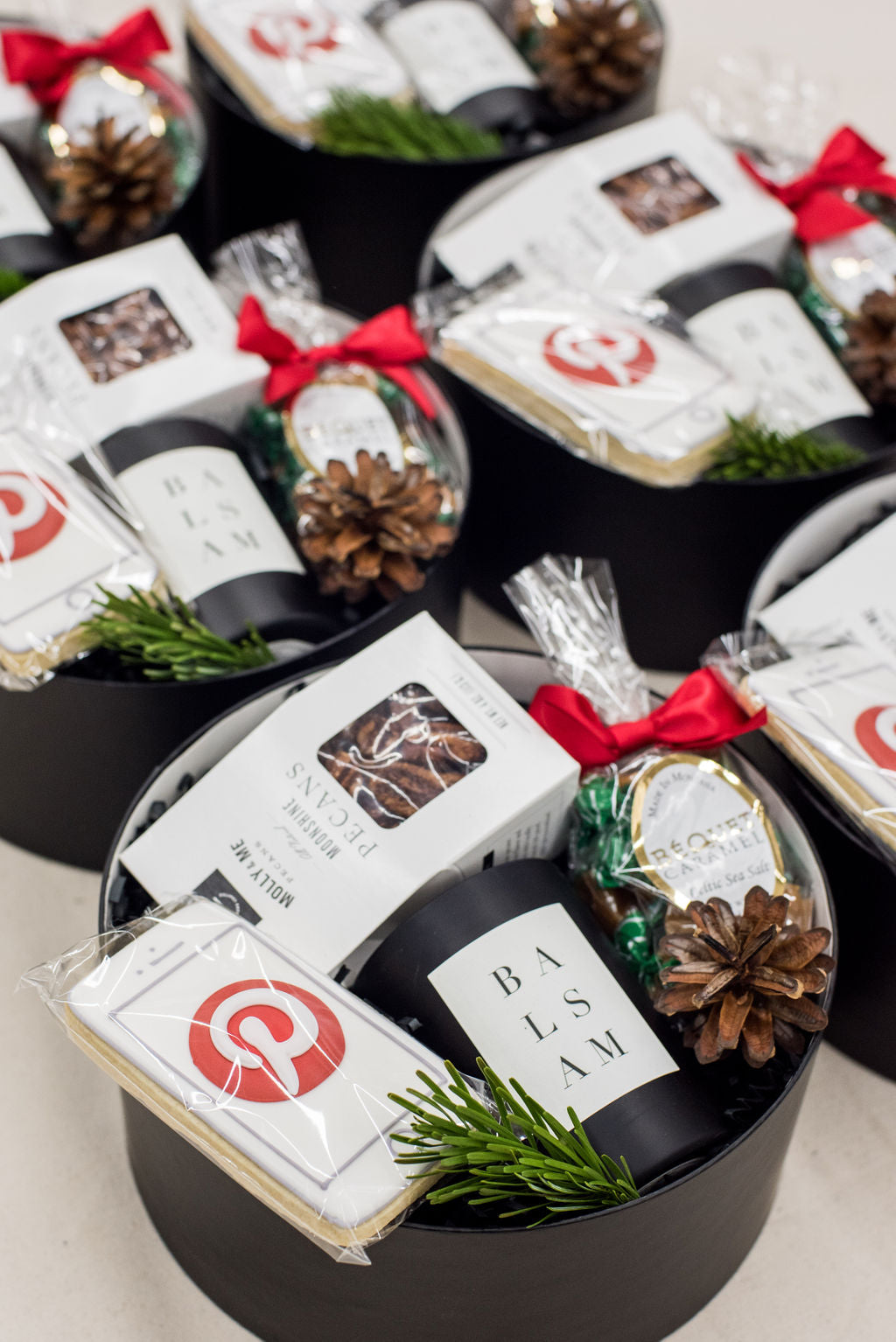 Pinterest holiday client gift boxes by Marigold & Grey