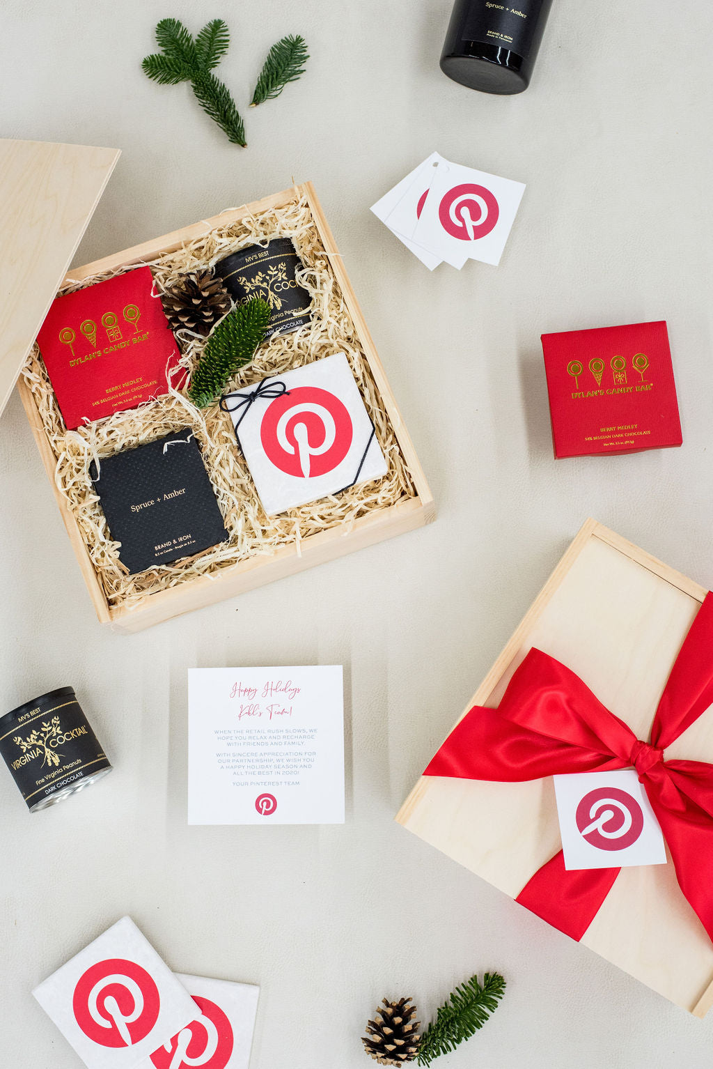 luxury curated holiday gift boxes for pinterest