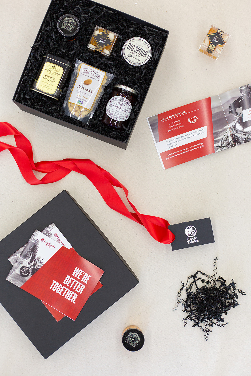 Trader Interactive custom curated client gift boxes