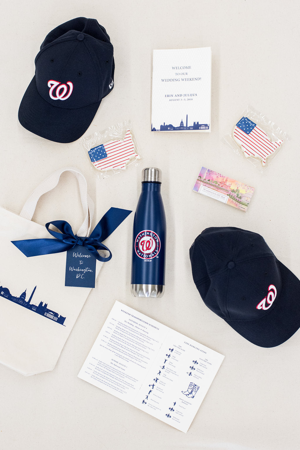Washington DC wedding welcome bags