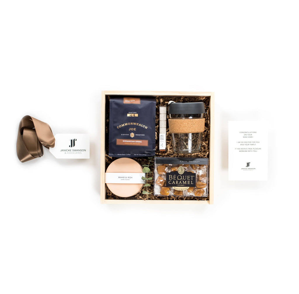 Introducing our signature Add Your Own Logo Program, the semi-custom gifting option for branded gift boxes and branded corporate gifts from Marigold & Grey!