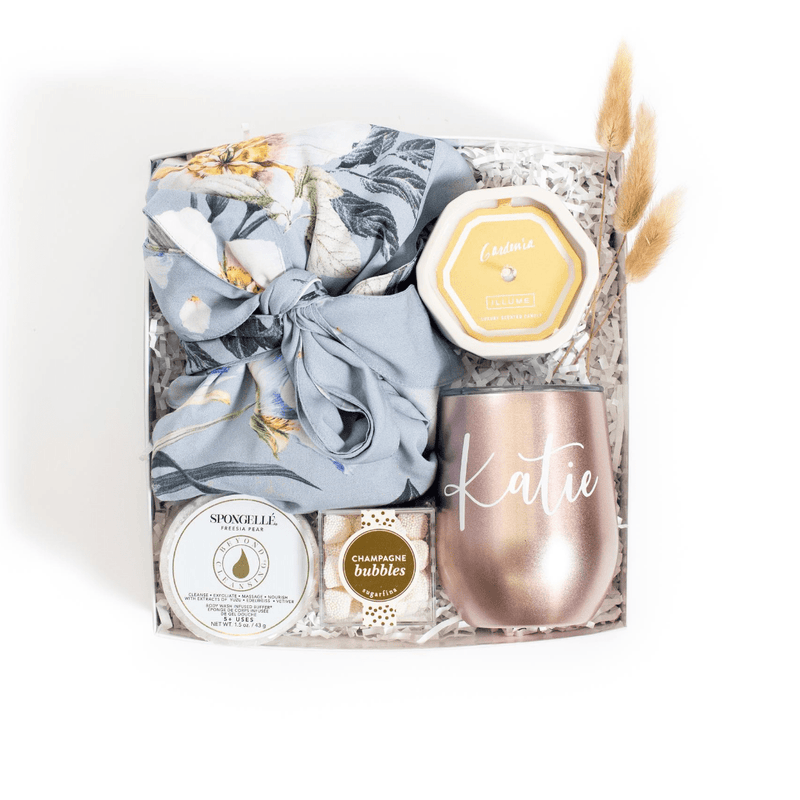 "Shop our signature cute bridesmaid proposal gift, ""By The Bride's Side"" from Marigold & Grey."