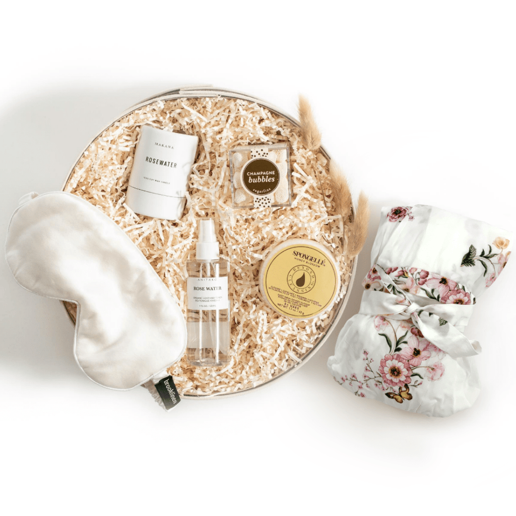 "Shop our signature wedding gift box for the bride, ""Bride Unwind"" from Marigold & Grey."