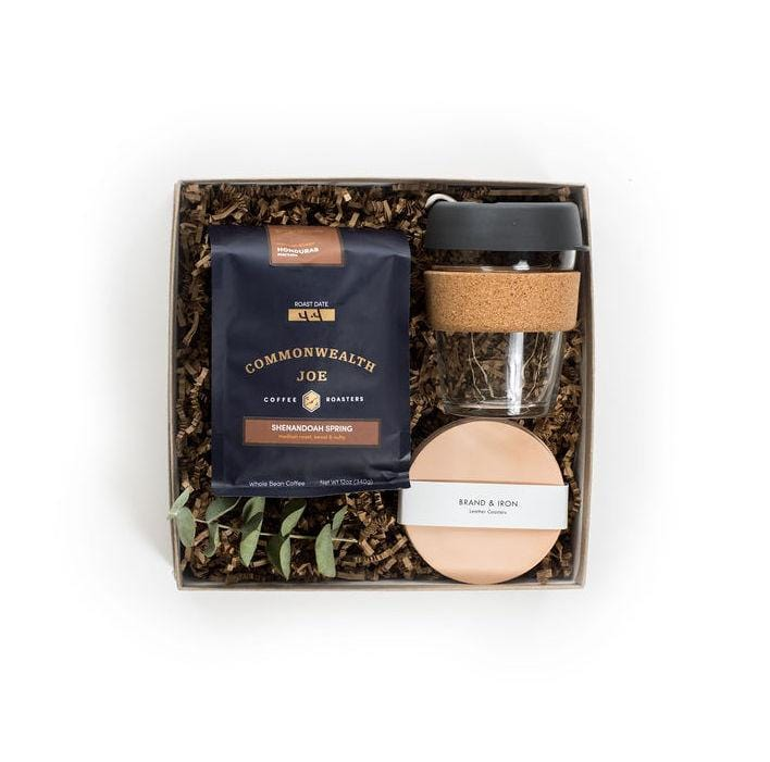 "Shop ""Coffee Break"", the signature coffee gift set by Marigold & Grey. Our holiday coffee gift sets include free U.S. Shipping and complimentary custom handwritten notecard!"