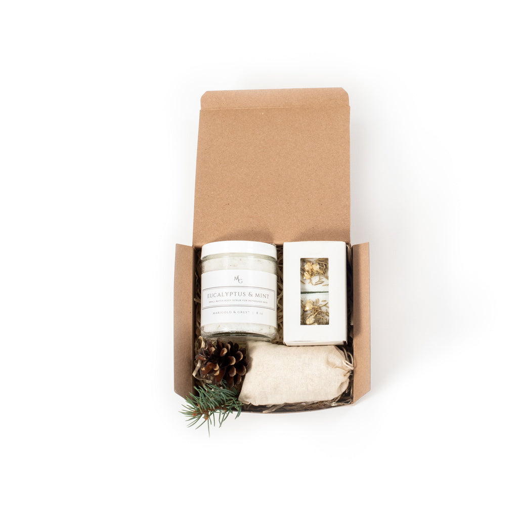 Shop the Happy Spa-Lidays holiday gift box by Marigold & Grey