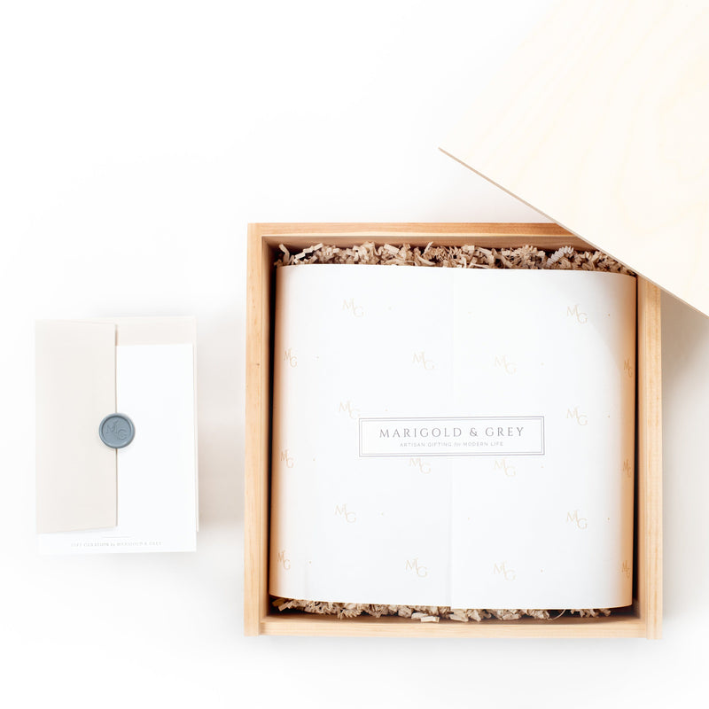 Shop the Luxe Lodge holiday gift box by Marigold & Grey