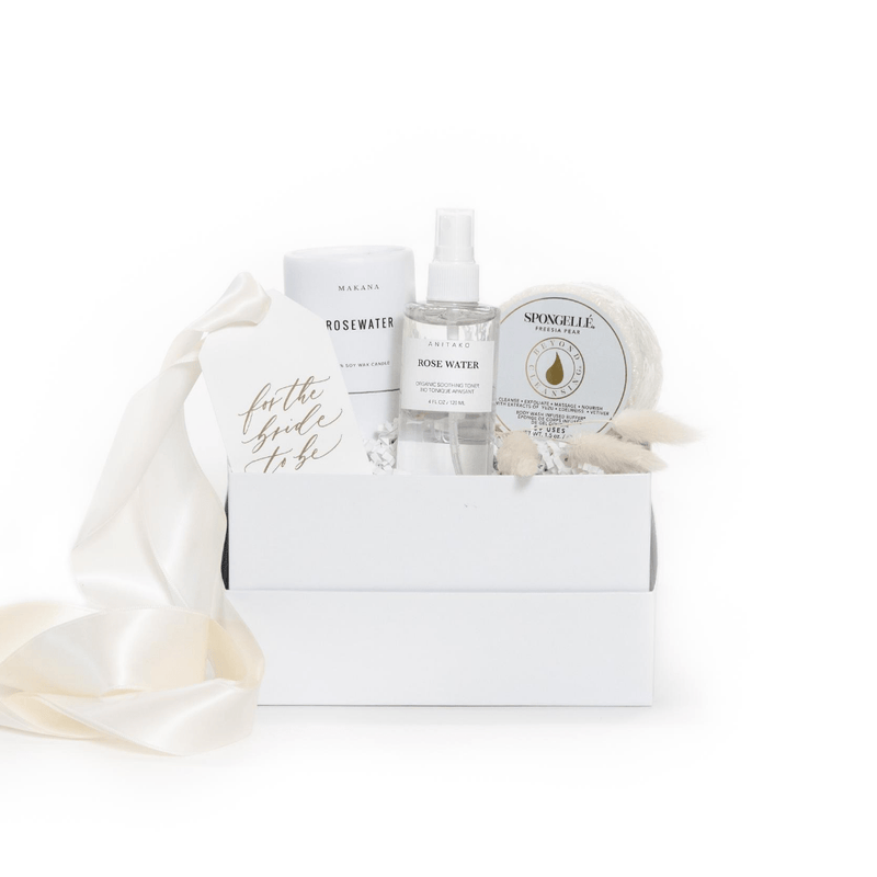 "Shop ""Spa Day Fiancee"" the signature engagement self-care gift box by Marigold & Grey."