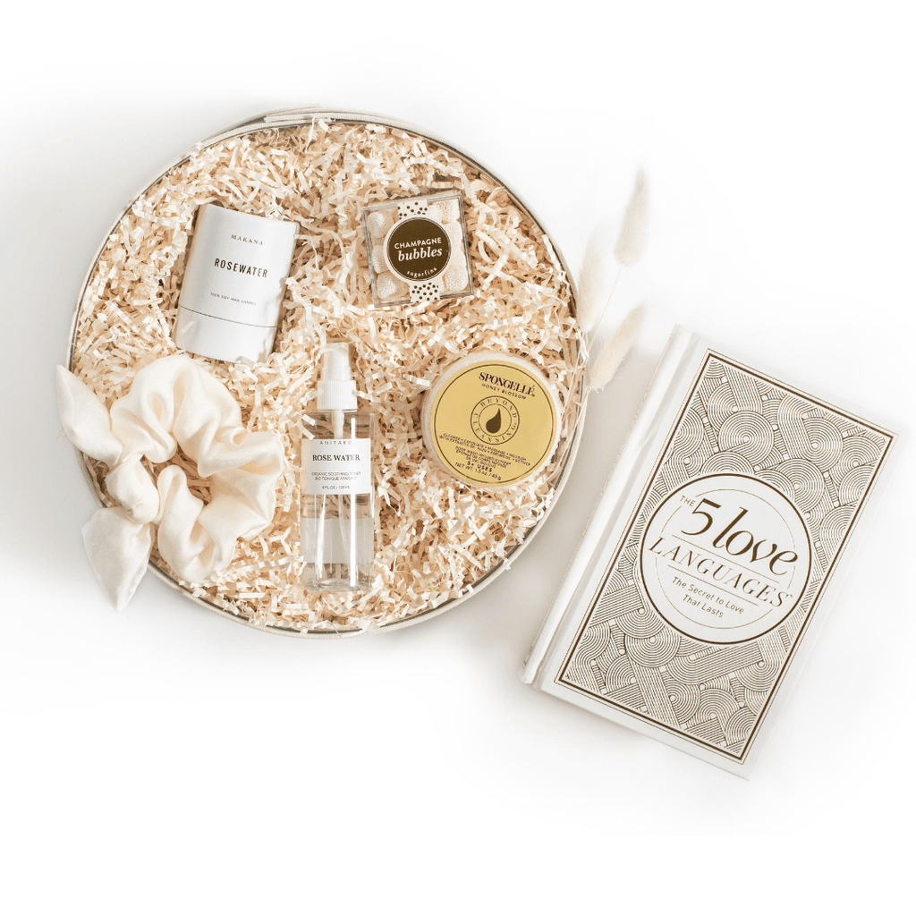 "Shop ""Newlywed Ready"", the signature bride-to-be gift box by Marigold & Grey. Our engagement gift set includes free U.S. Shipping."