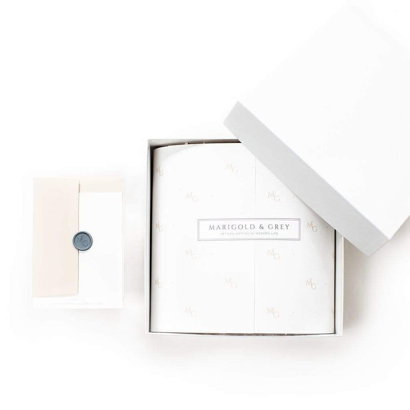 Luxury curated gift box ideas for client holiday gifting by Marigold & Grey