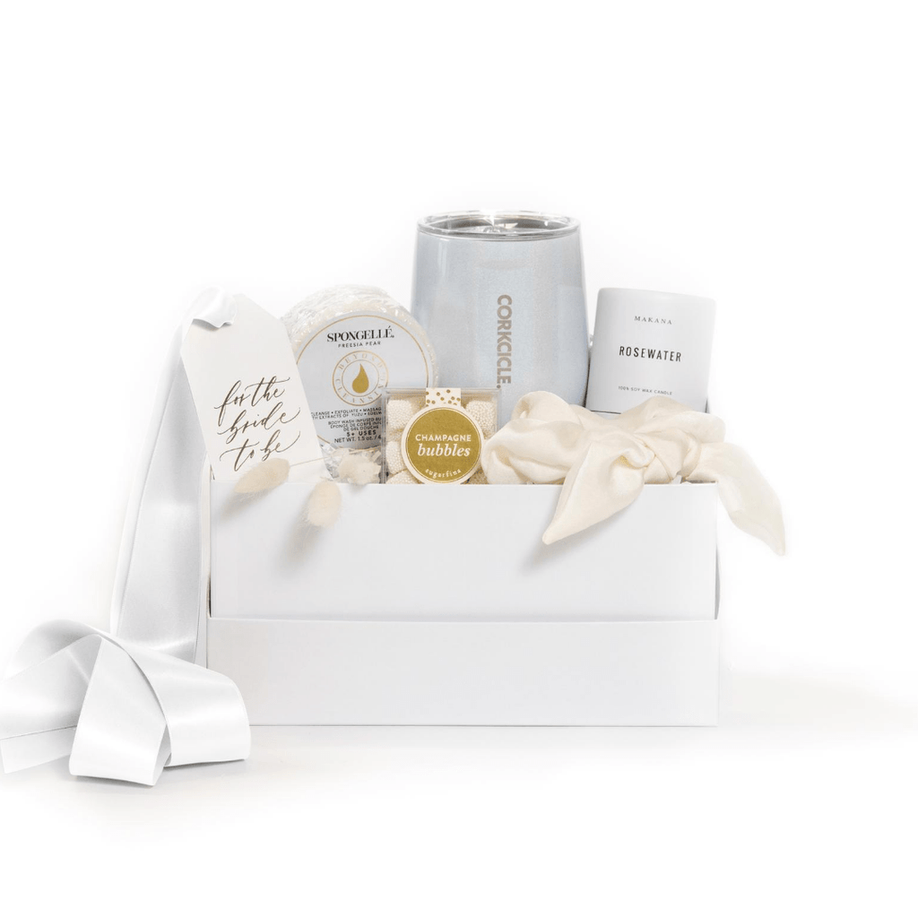 "Shop ""Refined Bride,"" the signature engagement gift box by Marigold & Grey."