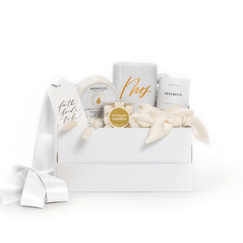 "Shop bride gifts from mom or friends, ""Refined Bride"" from Marigold & Grey."