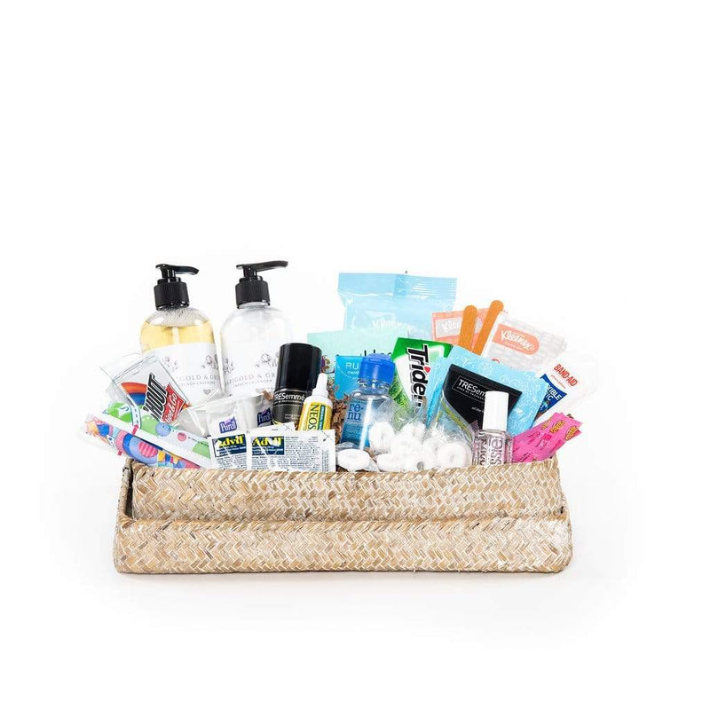 Shop our restroom amenities basket and make your guests feel right at home.